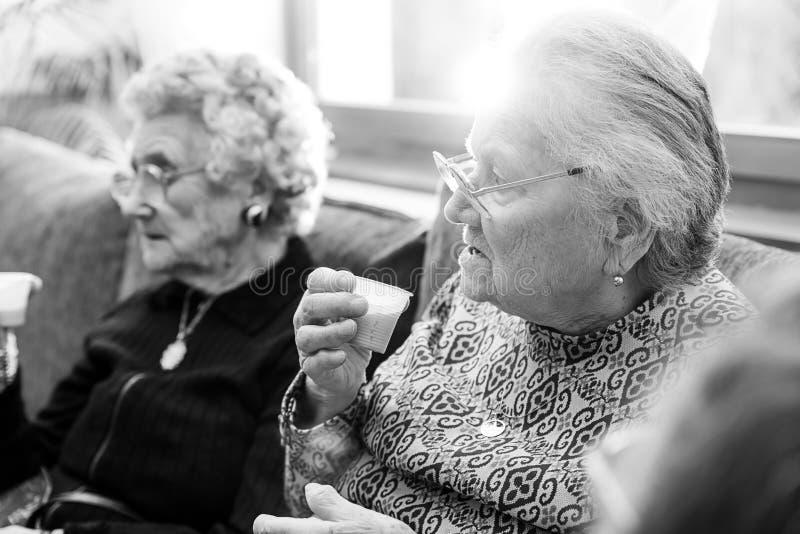 Deux femmes supérieures photo libre de droits