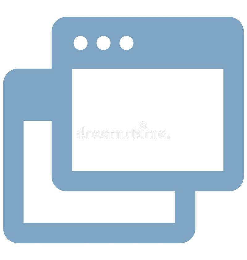 Deux fen?tres dirigent connexe aux fen?tres de web browser et enti?rement editable illustration stock