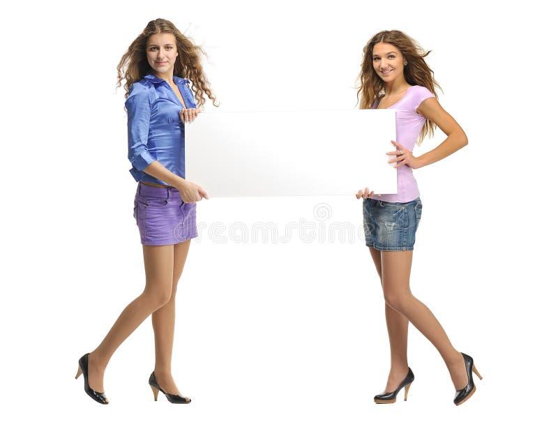 Deux filles photographie stock