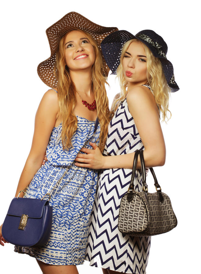 Deux filles de meilleurs amis photographie stock
