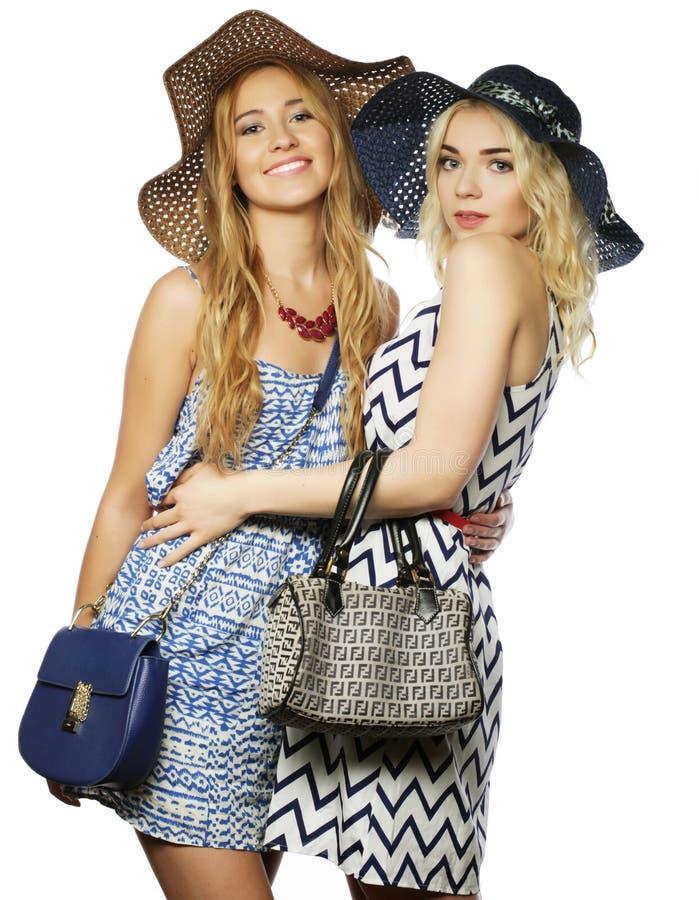 Deux filles de meilleurs amis photo libre de droits
