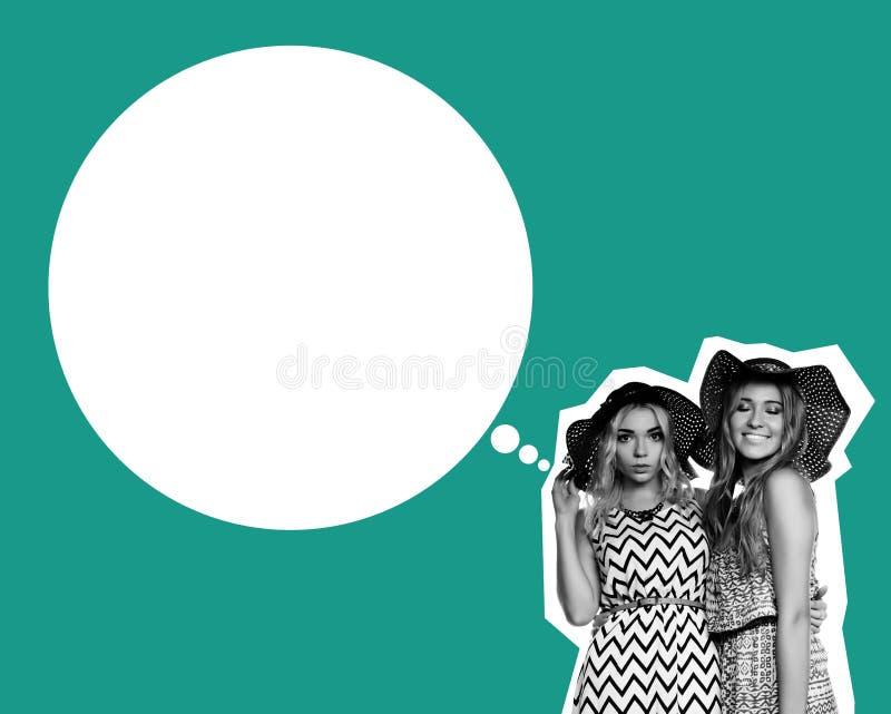 Deux filles de meilleurs amis images libres de droits