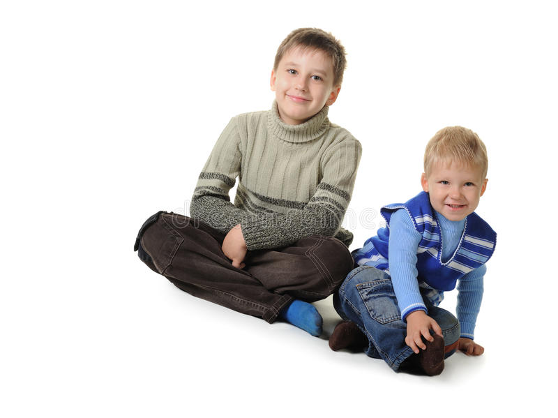 Deux frères photo libre de droits