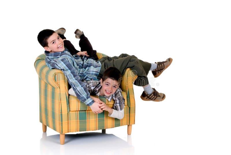 Deux frères heureux photos stock