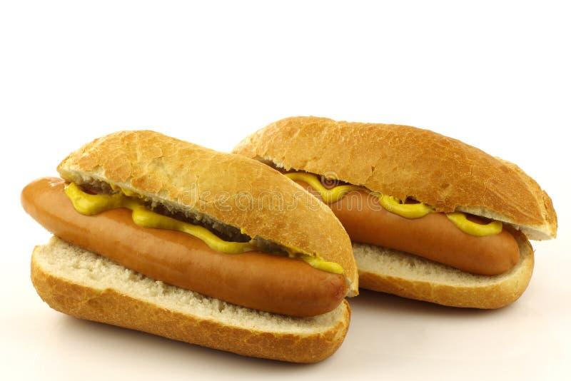 Deux frais hot-dogs faits maison images libres de droits