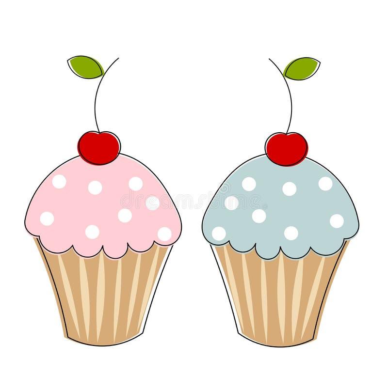 Deux gâteaux illustration de vecteur