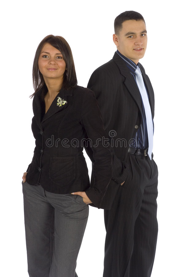 Deux gens d'affaires heureux images libres de droits