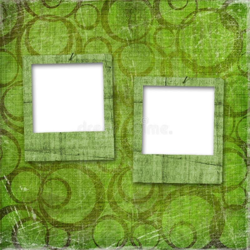 Deux glissières grunges de vieux papiers illustration stock
