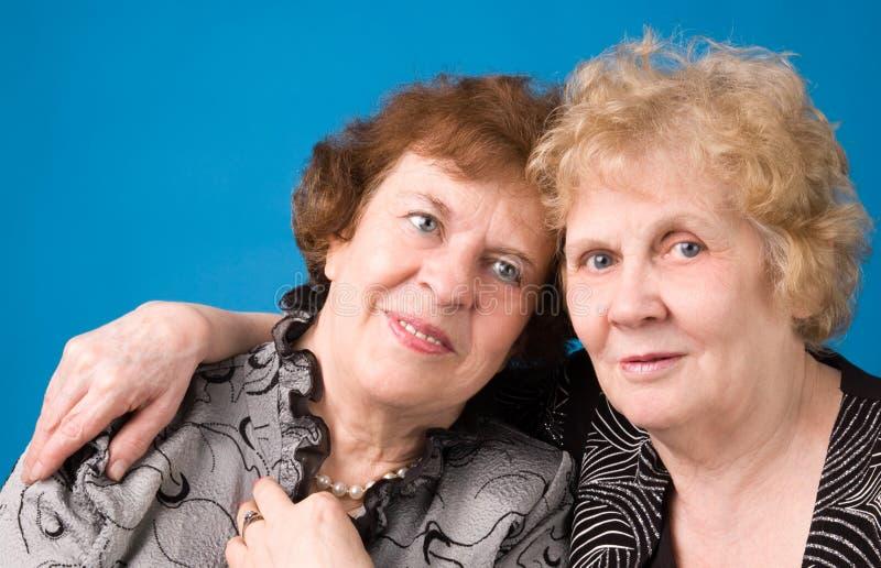 Deux grands-mères. image stock