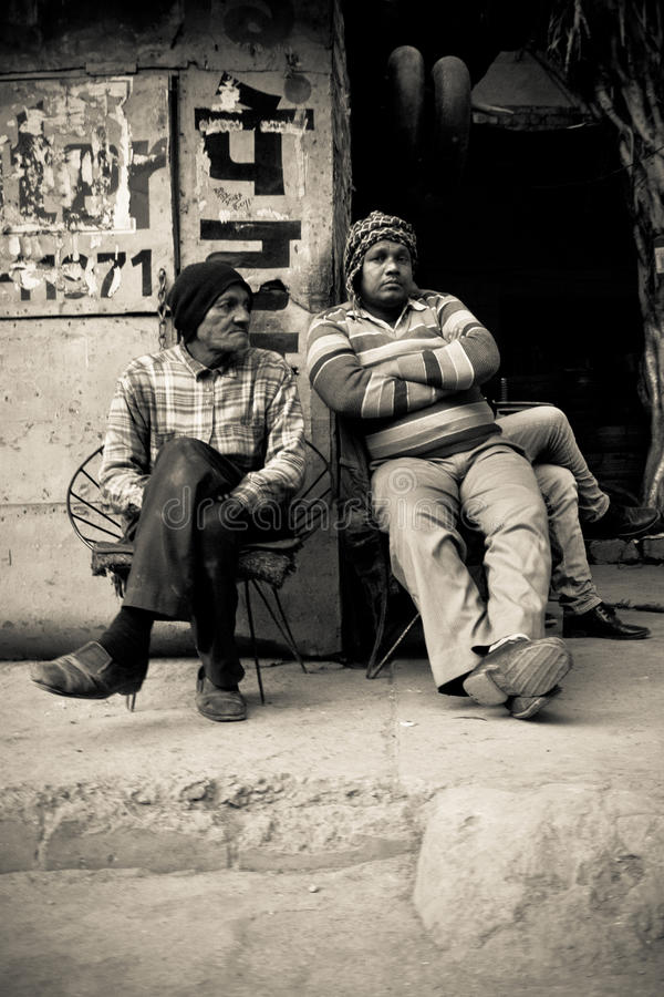 Deux habitants d'Amritsar, Pendjab, Inde photo stock