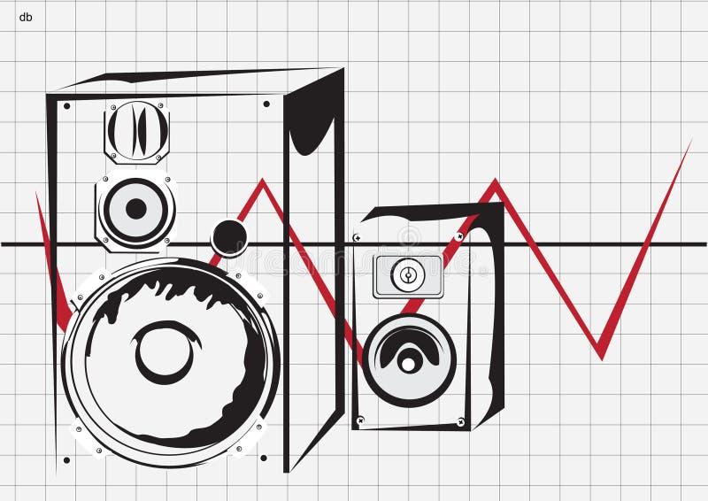 Deux haut-parleurs illustration stock