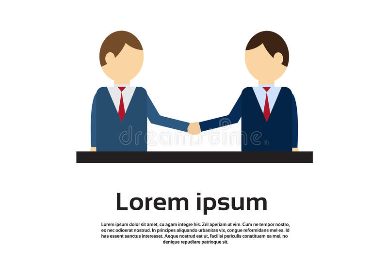 Download Deux Homme D'affaires Hand Shake, Concept D'accord De Poignée De Main D'homme D'affaires Illustration de Vecteur - Illustration du salutation, copie: 77157832