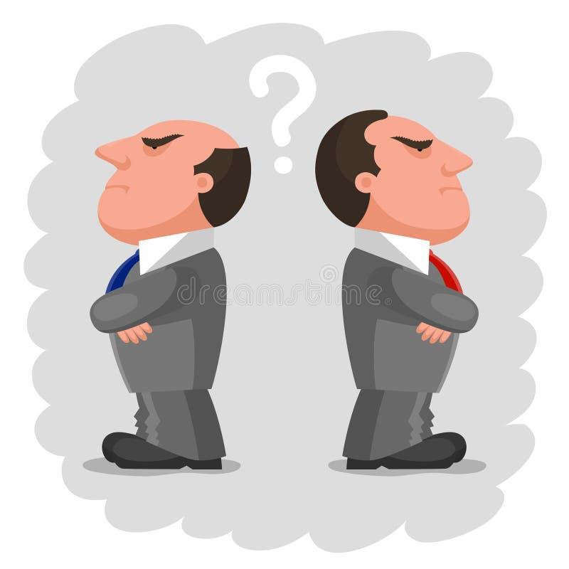 Deux hommes contrariés illustration de vecteur