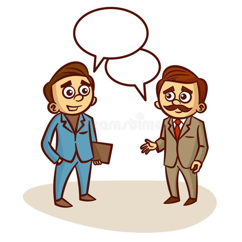 Deux hommes d'affaires parlant des affaires illustration stock