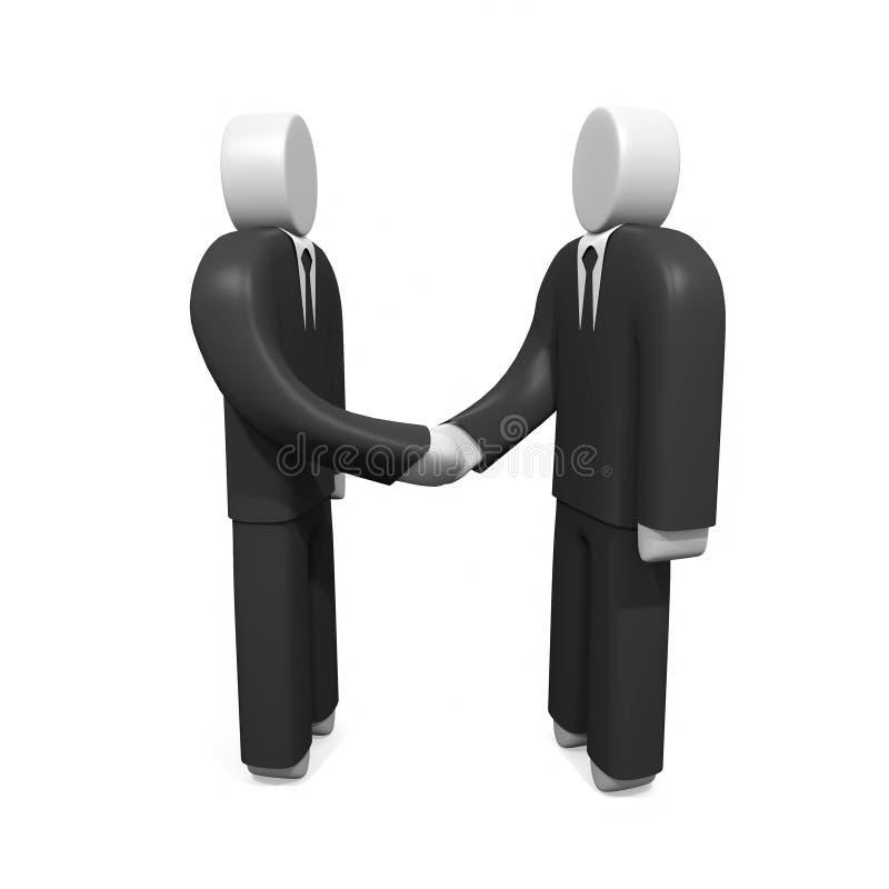 Deux hommes d'affaires se serrant la main illustration libre de droits