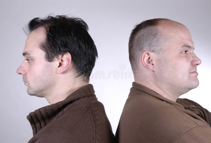 Deux hommes III photos stock