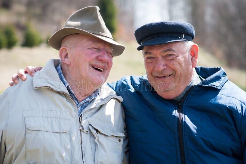 Deux hommes supérieurs photo stock