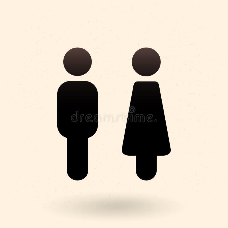Deux icônes de vecteur Signes masculins et femelles de genre illustration stock