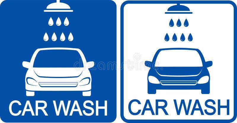 Deux icônes de station de lavage illustration stock