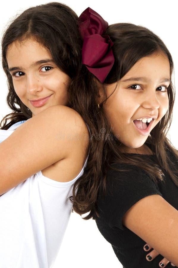 Deux jeunes amis photo stock