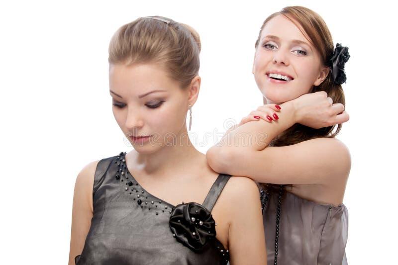 Deux jeunes belles femmes images stock