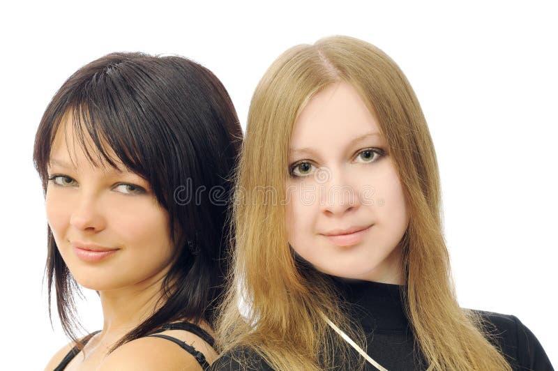 Deux jolies filles image stock
