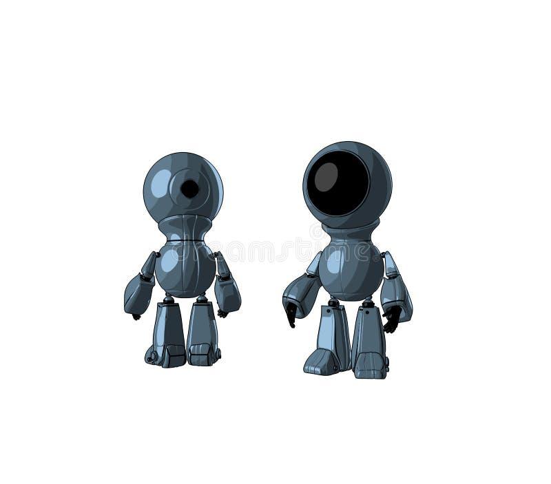 Deux jouets - espions illustration stock