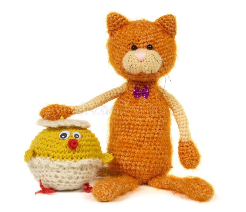 Deux jouets tricotés image libre de droits