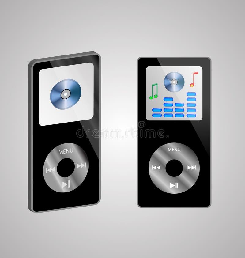 Deux joueurs MP3 illustration stock