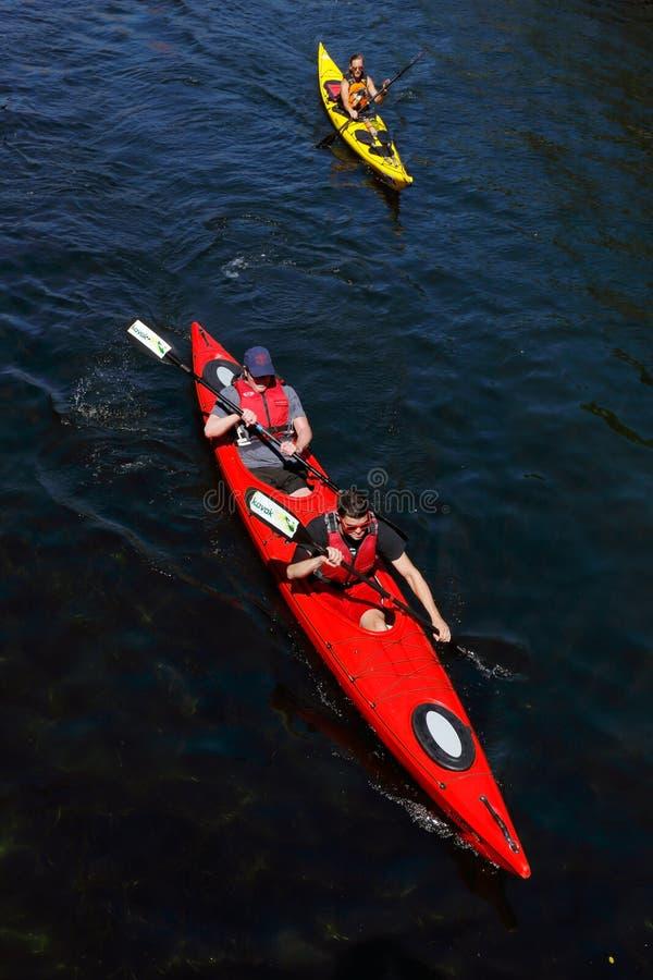 Deux kayaks photo stock
