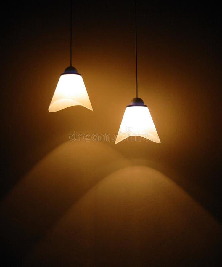 Deux lampes photo stock