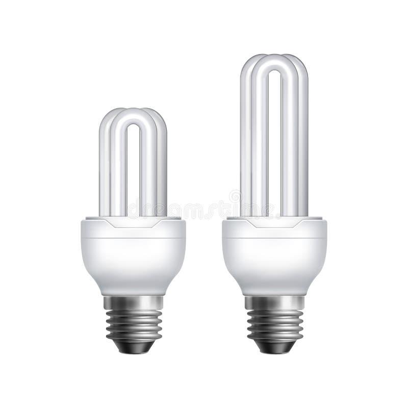 Deux lampes fluorescentes illustration de vecteur