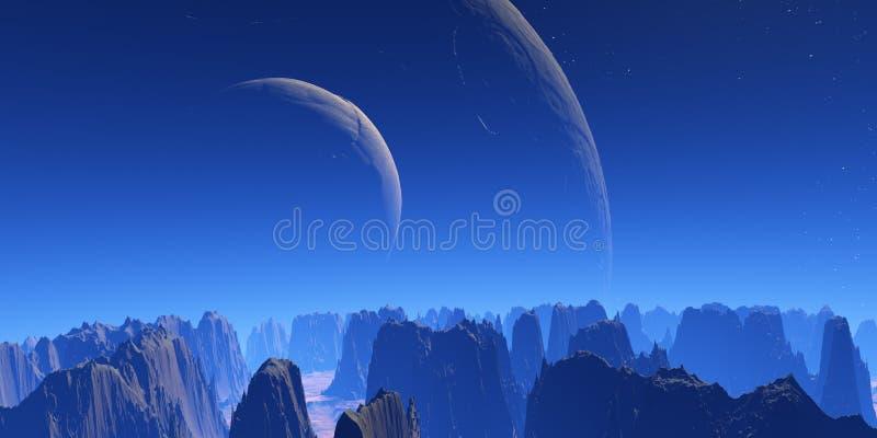 Deux lunes illustration stock
