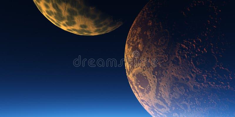 Download Deux lunes illustration stock. Illustration du globe, desktop - 727622