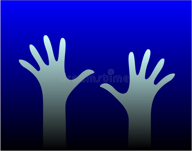 Deux mains illustration stock