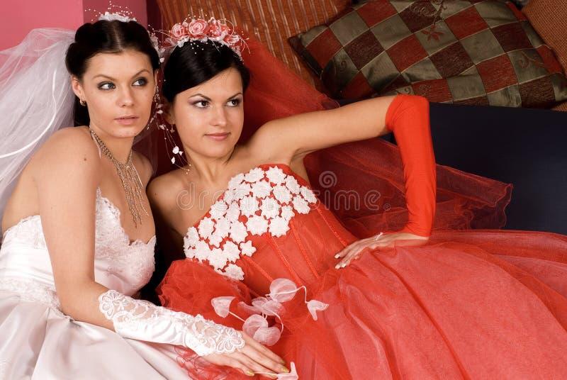 Deux mariées photos stock