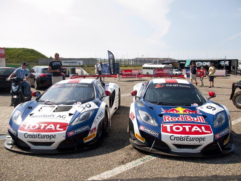 Deux McLaren GT MP4-12C de Sebastien Loeb Racing image stock