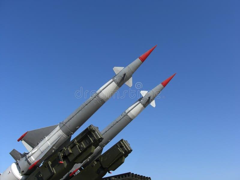 Deux missiles photos stock
