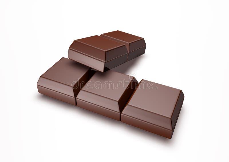 Deux morceaux de chocolat illustration de vecteur