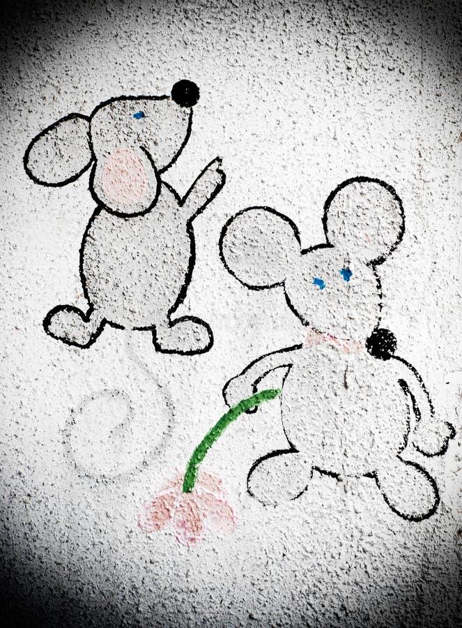 Deux mouses de bande dessinée illustration stock
