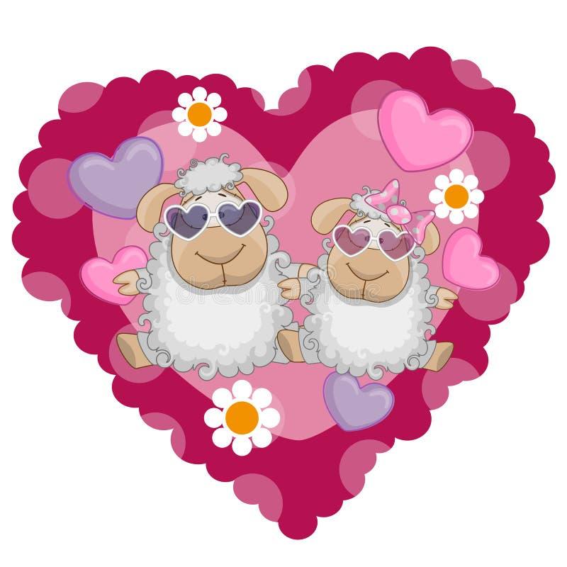 Deux moutons illustration libre de droits