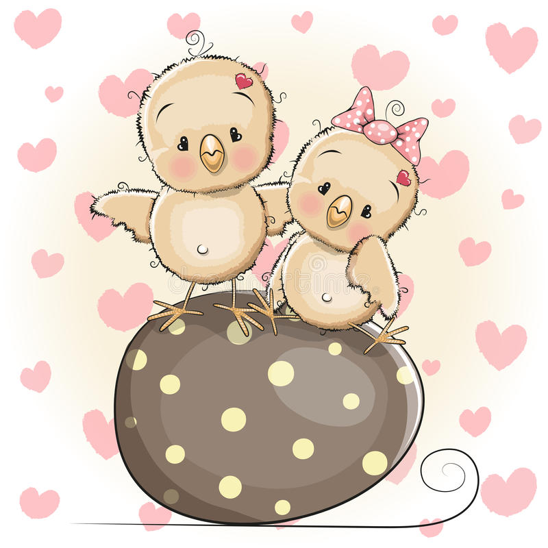 Deux nanas mignonnes illustration de vecteur
