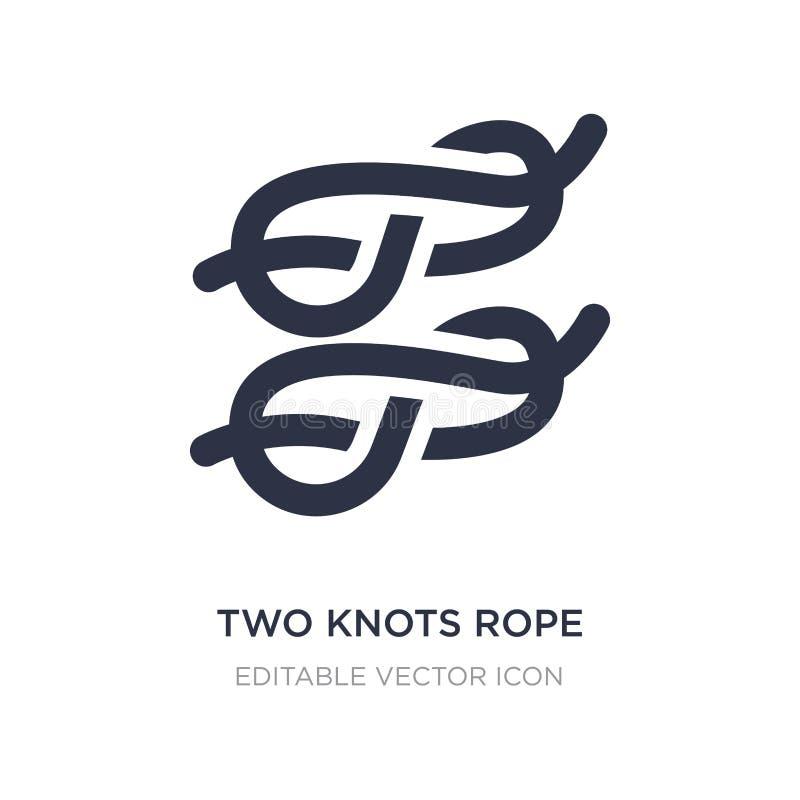 deux noeuds d'icône de corde sur le fond blanc Illustration simple d'élément de notion générale illustration libre de droits
