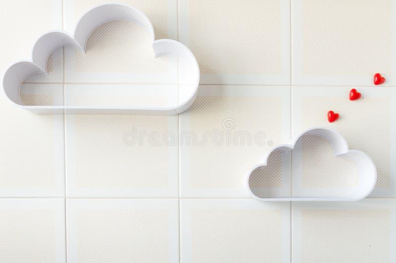 Deux nuages avec le coeur image stock