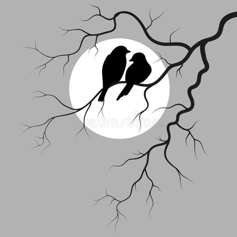 Deux oiseaux illustration libre de droits