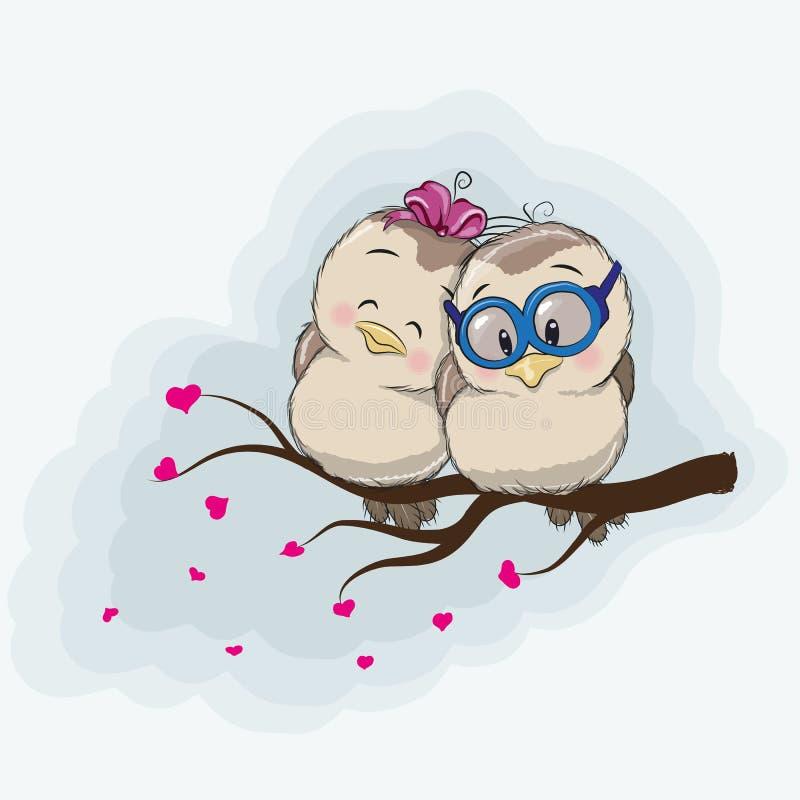 Deux oiseaux illustration stock