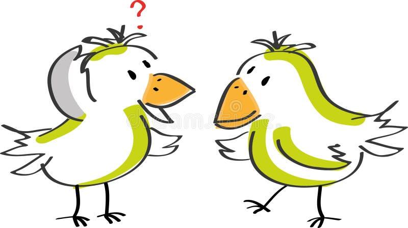 Deux oiseaux parlants illustration stock