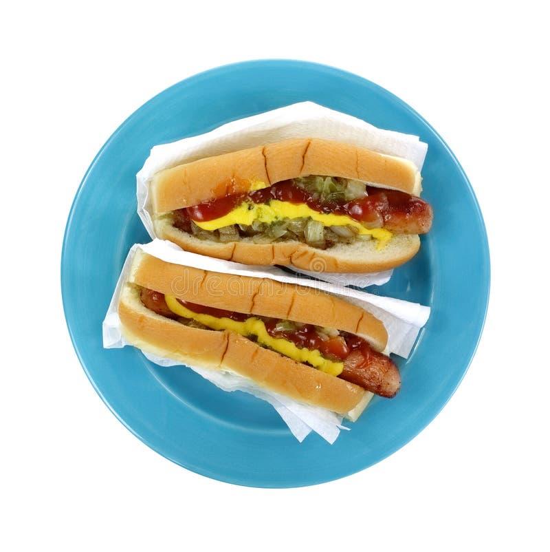 deux ont charg les hot dogs de ci avant photo stock image du charg crabots 26062494. Black Bedroom Furniture Sets. Home Design Ideas