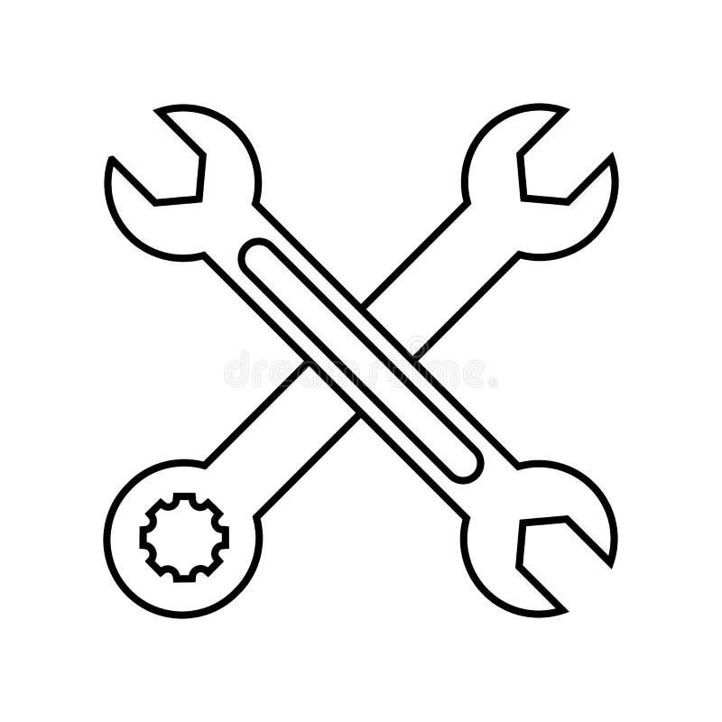 Deux ont croisé l'icône de vecteur de clés illustration stock