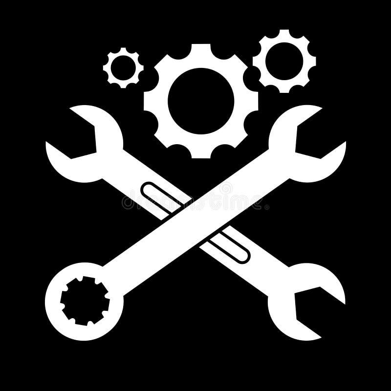 Deux ont croisé l'icône de vecteur de clés illustration libre de droits